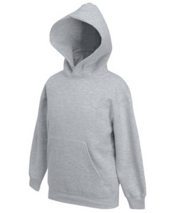 Bluza Fruit of the Loom Kids Hooded Sweat - szary 620370 94
