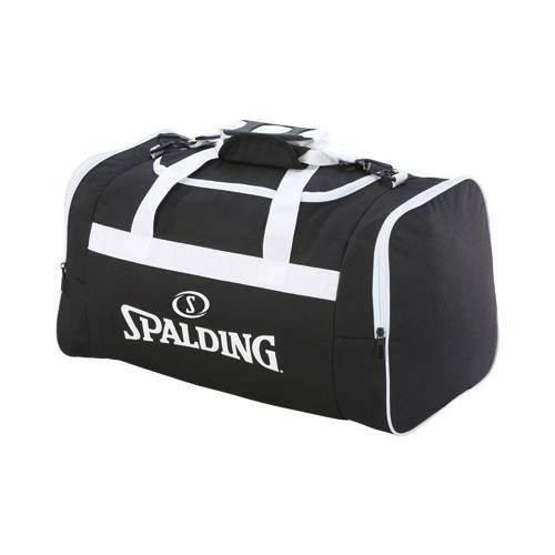 9c92621f3d2b1 Torba sportowa średnia Spalding Basketball Team czarno-biały ...
