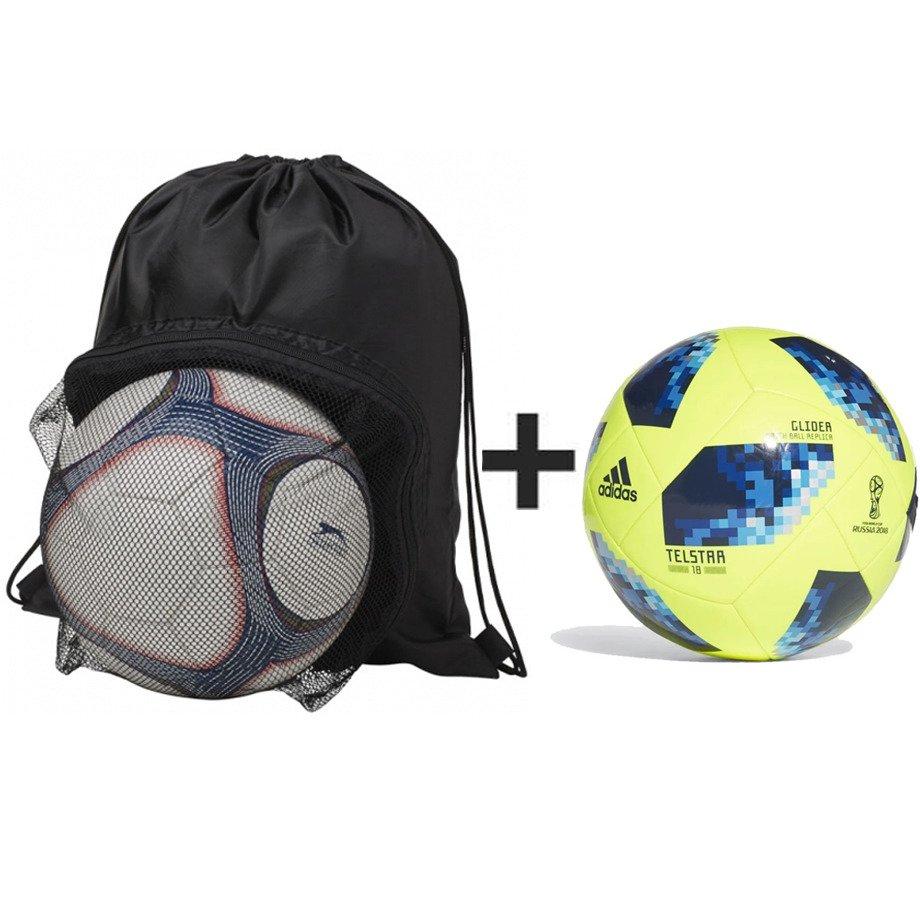 25cb6580badf78 ... Plecak Goal Soccer + piłka nożna Adidas WORLD CUP TELESTAR 18 GLIDER -  CE8097 ...