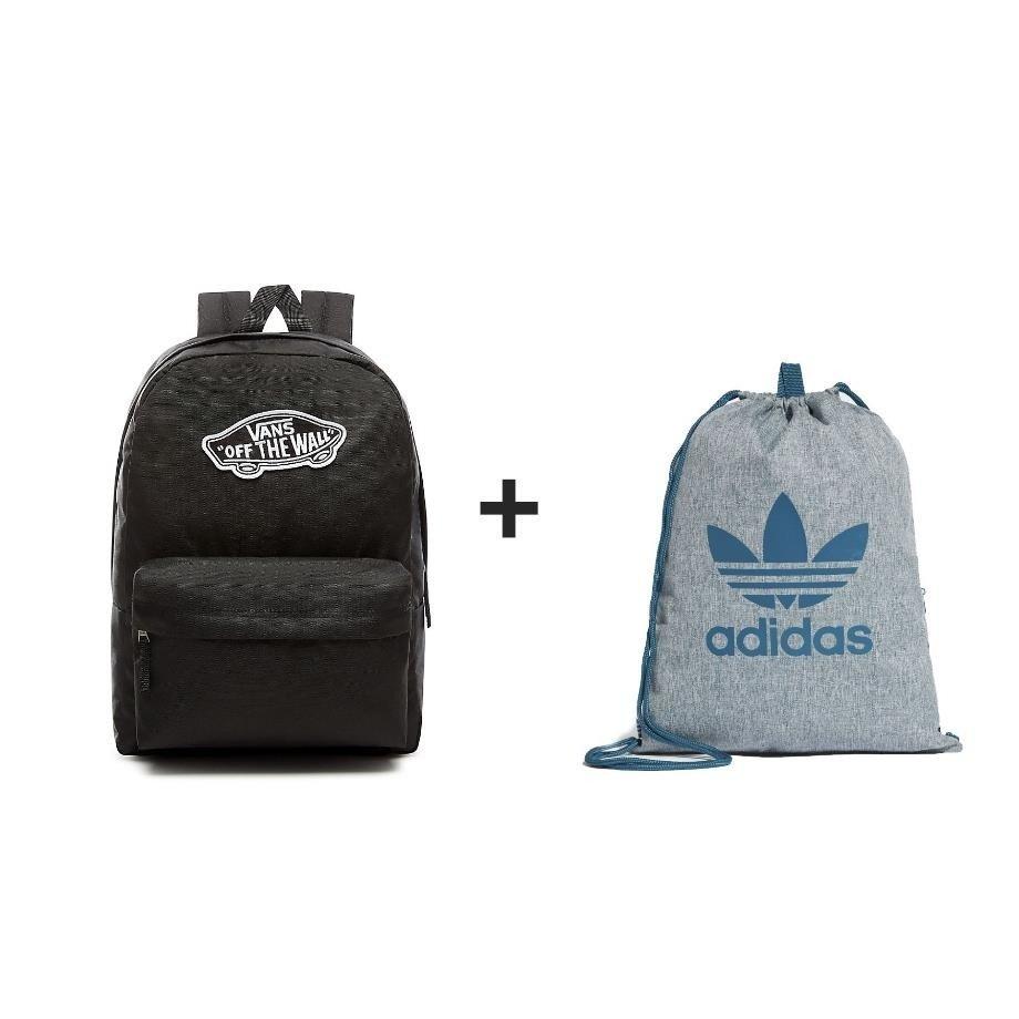 55c7b8734a32 ... Plecak VANS Realm Backpack - VN0A3UI6BLK + Worek Adidas ...