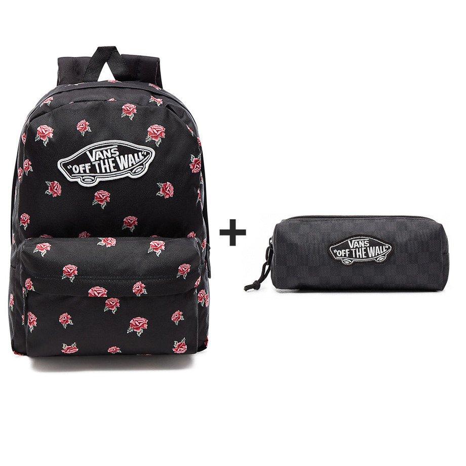 7fcd81f8e02b2 ... Plecak VANS Realm Black   Rose Backpack + Saszetka Piórnik Vans OTW  Pencil Pouch - VN0A3HMQBA5 ...