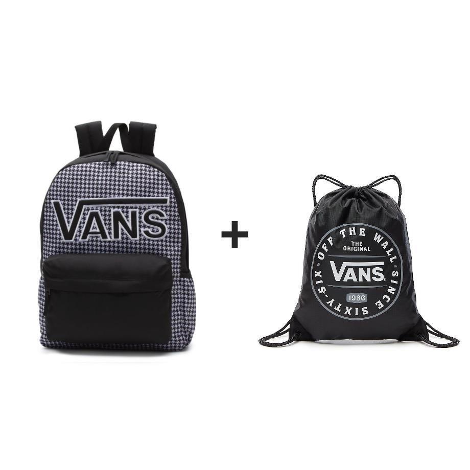 9f67f98911d54 ... Black/White | VN0A3UI8YER 006 · Plecak VANS Realm Flying V Backpack +  Worek szkolny ...