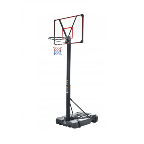 Zestaw do koszykówki Mobilny Kosz Regulowany 225-305 + Piłka do koszykówki NBA Spalding Official Game Ball Series Replica + Pompka Goldstar z igłą